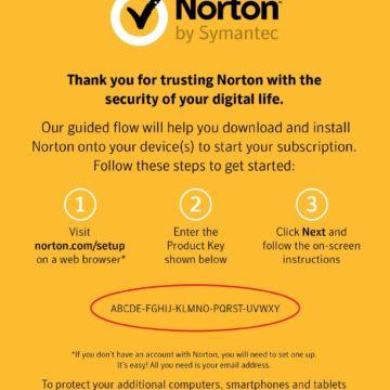 norton security key card