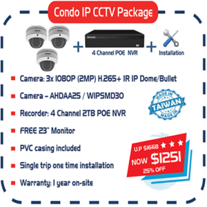Condo IP CCTV Package
