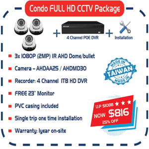 Condo FULL HD CCTV Package