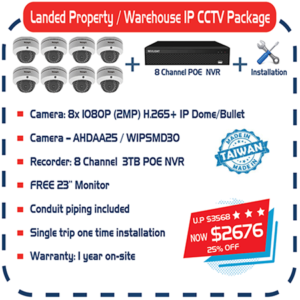 Landed Property / Warehouse IP CCTV Package