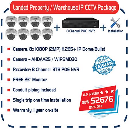 Landed Property / Warehouse IP CCTV Package